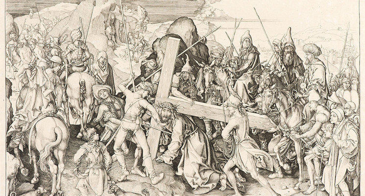 Highlight large copia de cristo carregando cruz  ca. 1475   martin schongauer baixa