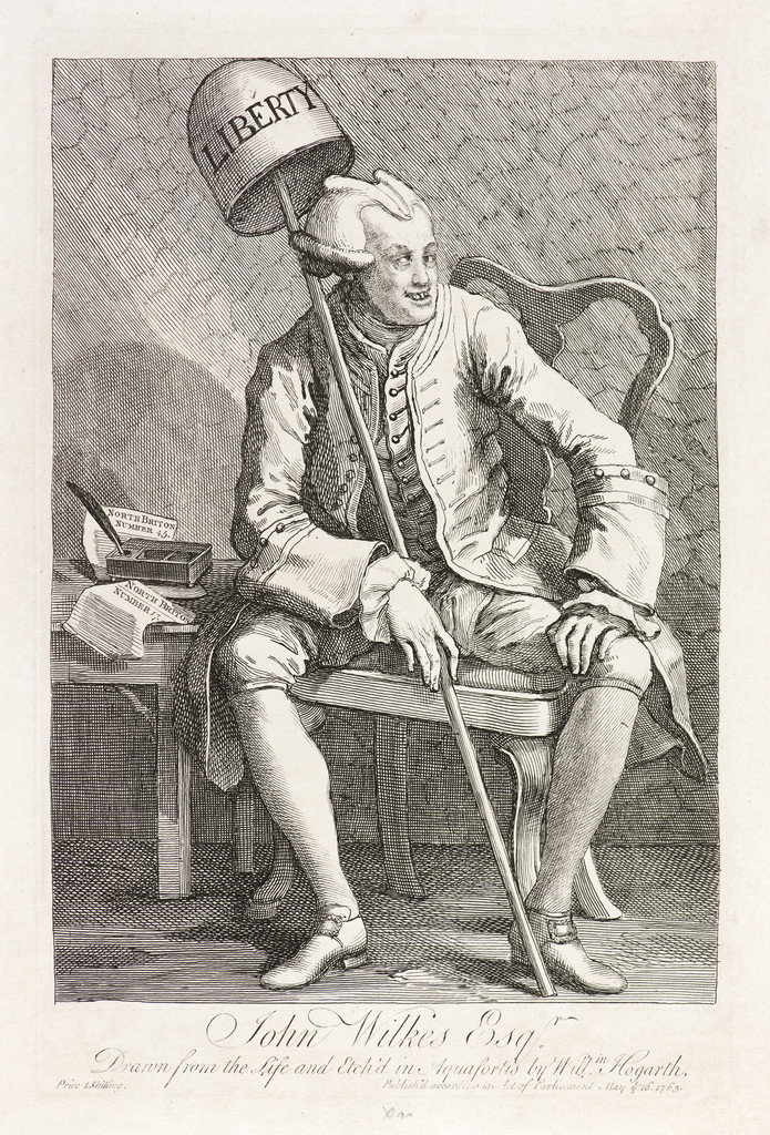 """John Wilkes Esq."" (1763), de William Hogarth (1697-1764)"